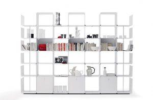 Cwave libreria componibile in metallo - riganelli