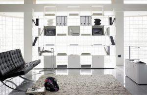 Cwave libreria componibile per casa e ufficio - riganelli