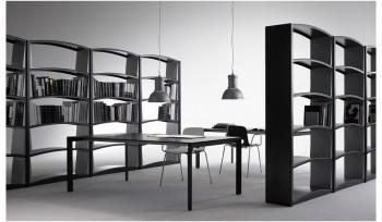 Libreria Chiave di volta in metallo piani ad arco