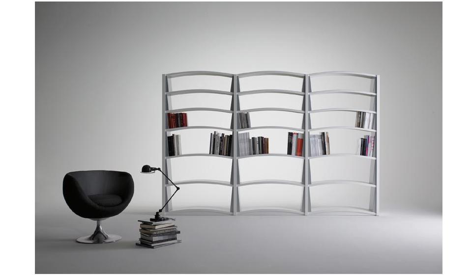 Libreria Chiave di volta per soggiorno in metallo piani ad arco