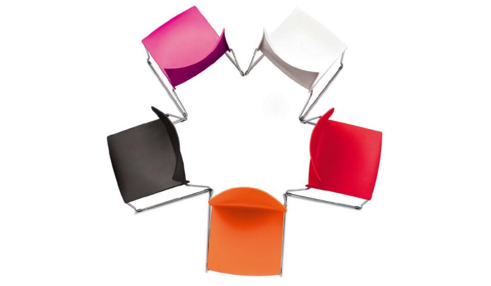 Vanity sedia collettività scocca in plastica