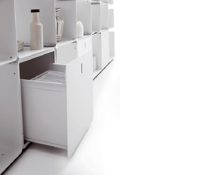 cwave cassetto libreria in metallo - riganelli