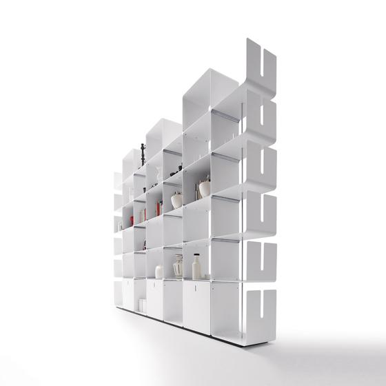 cwave libreria in metallo con cassetti