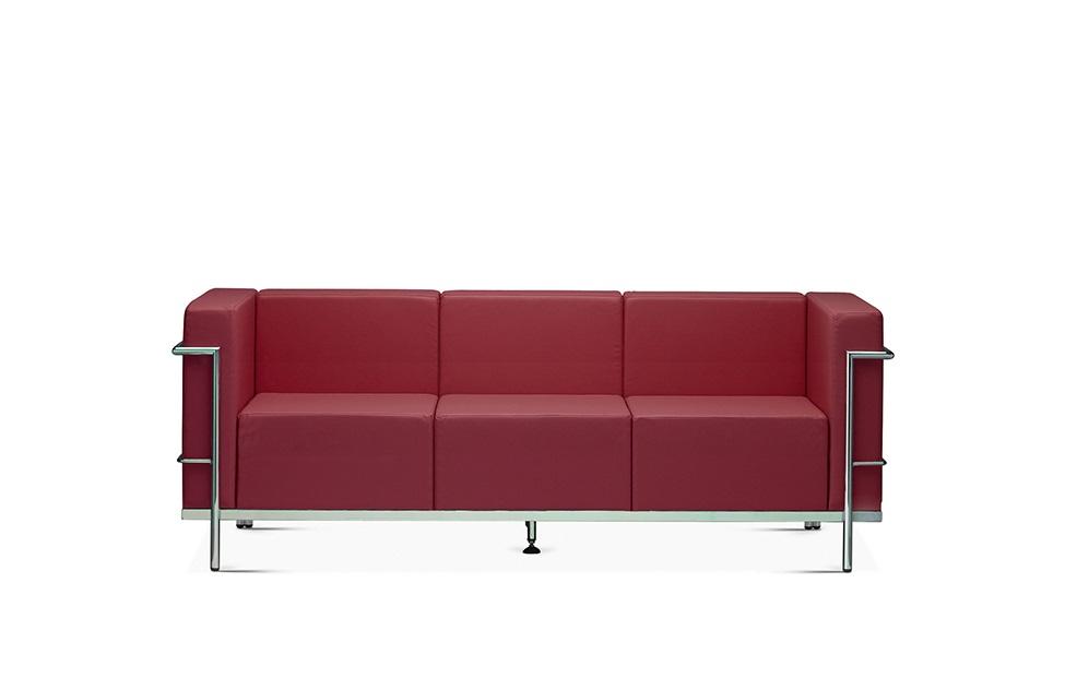 Night divano 3 posti rosso mattone - Riganelli Store