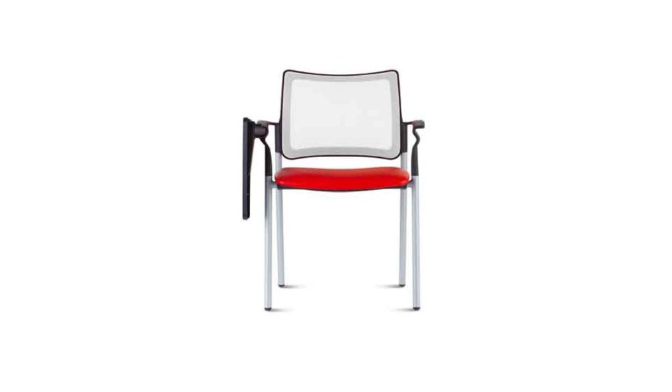 Pinko seduta per l'attesa Pinko sedia visitatori schienale in rete con braccioli e tavoletta