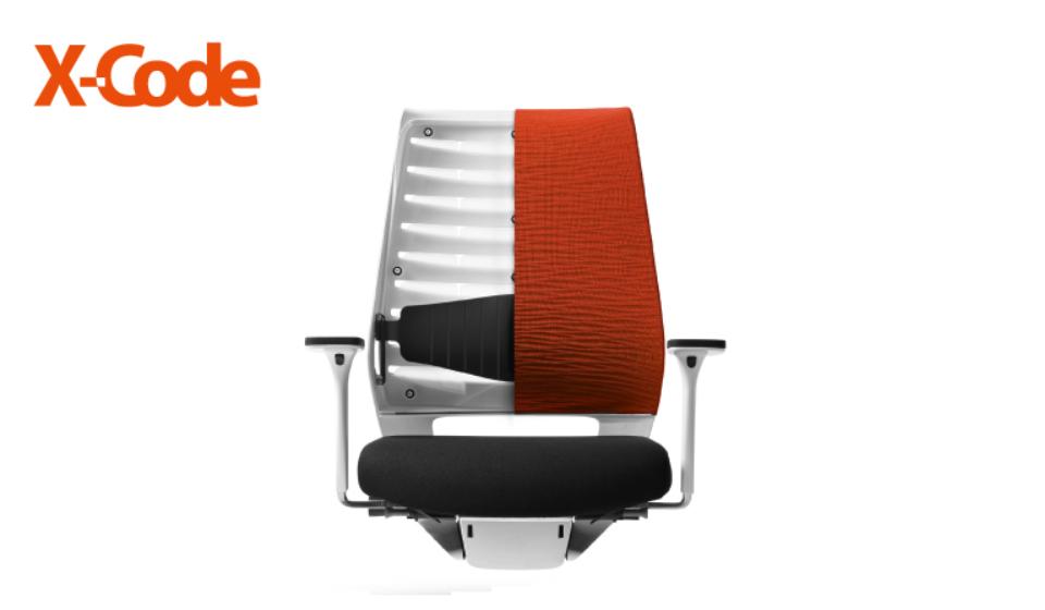 Poltrona direzionale X CODE schienale traspirante comoda e regolabile