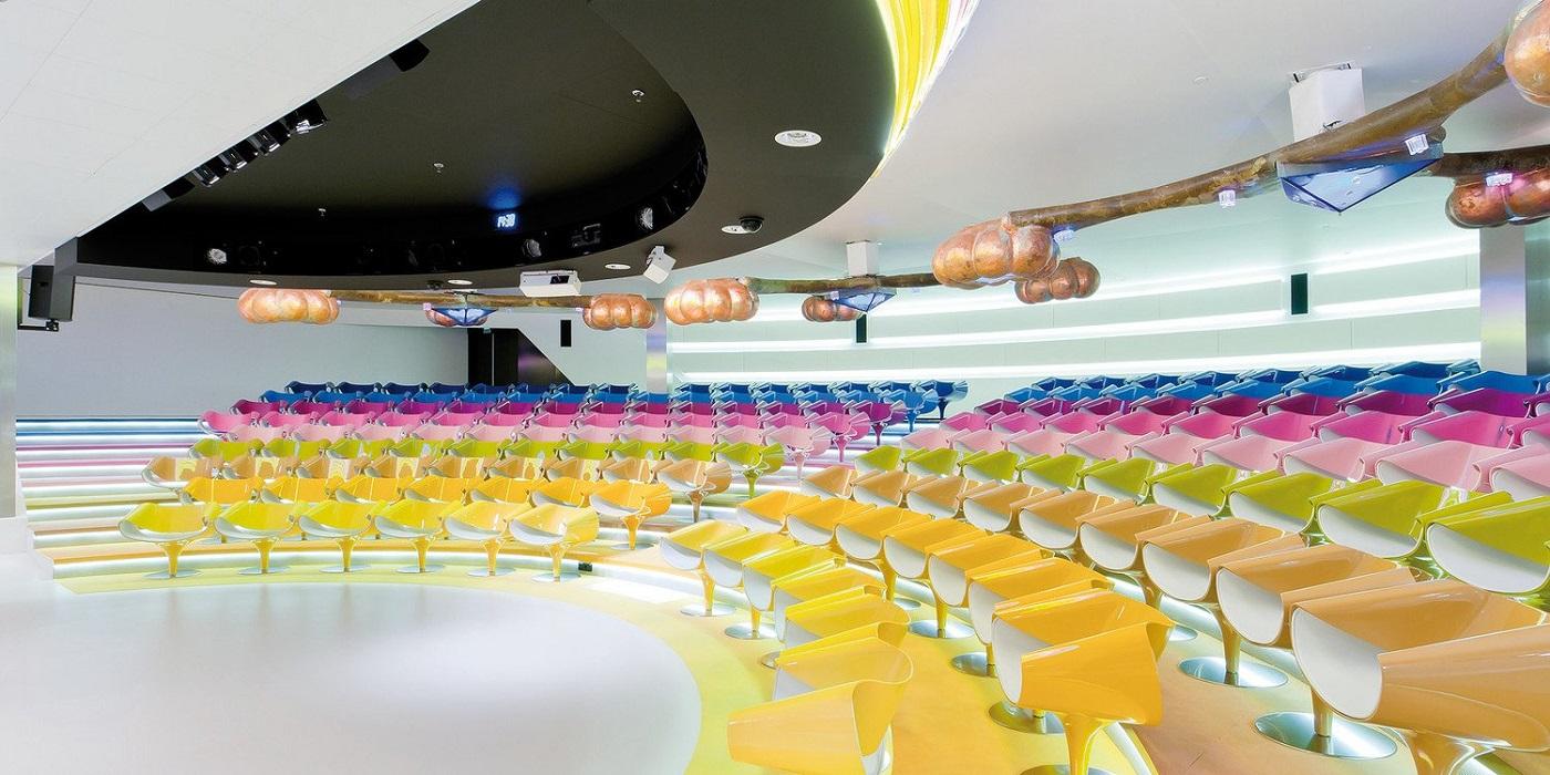 perillo sedie riunioni conferenze di design colorate - riganelli