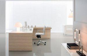 Kyo scrivania ufficio direzionale legno chiaro - riganelli