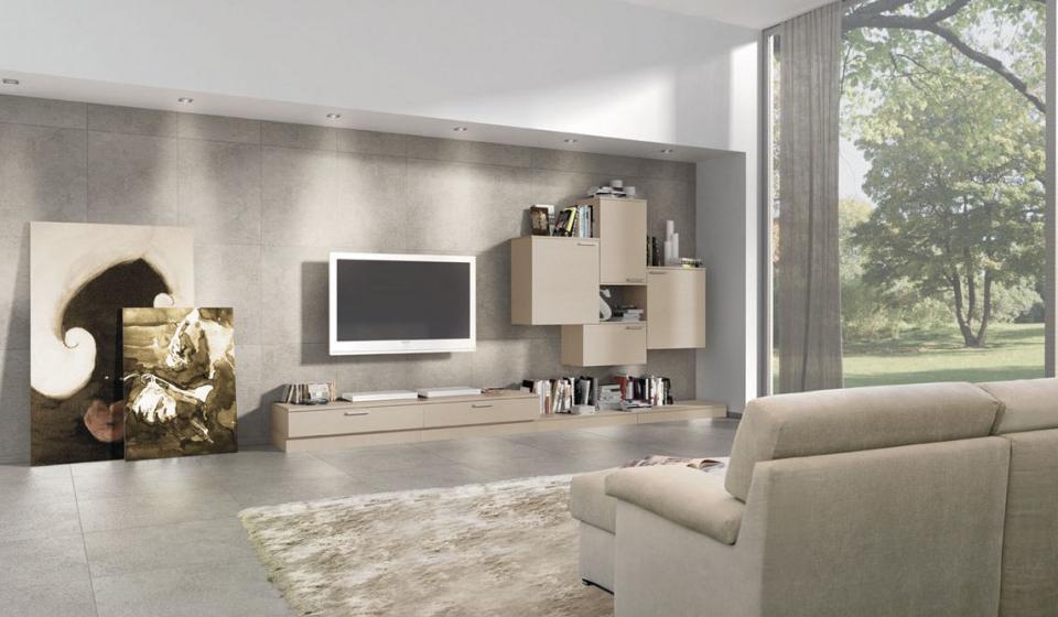 Piastrelle per parete soggiorno: pavimenti in finta pietra per