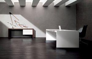 Tavolo scrivania direzionale bianca Kyo - riganelli