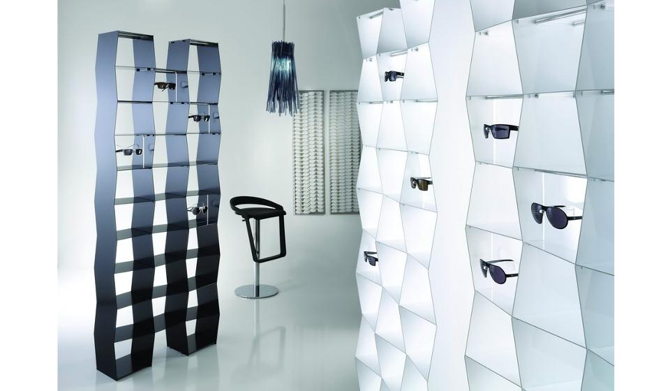 Préférence Wallpattern arredamento di design per negozio di ottica | Riganelli TZ59