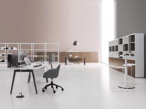 E-place scrivania gamba metallica - riganelli
