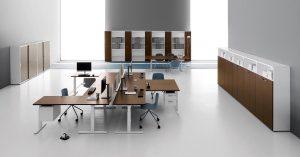 scrivania multi postazione nobu ufficio multipostazione operativo - riganelli