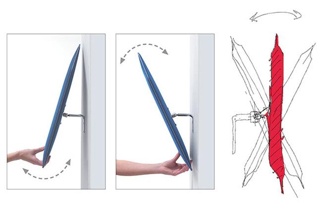 flap pannello fonoassorbente orientabile
