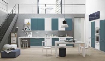 Agua Glam cucina moderna colorata bianco e blu