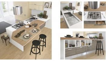 Agua Glam cucina top legno naturale