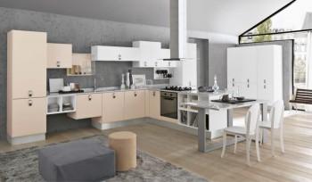 Cucina Agua Glam stile moderno con top in marmo