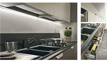 Cucina Quadra con illuminazione led sottopensile