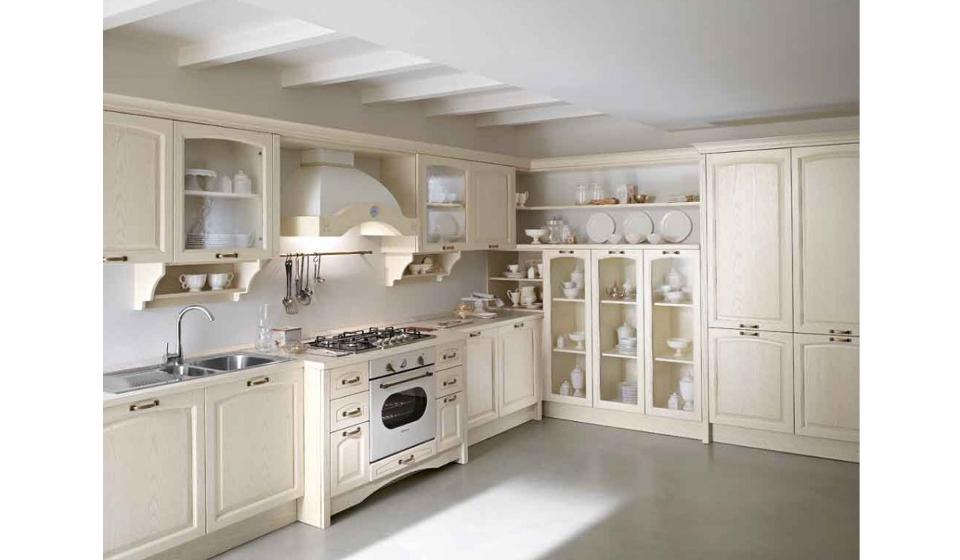 Pin cucine classiche bianche rosse verdi gialle panna - Cucine componibili bianche ...