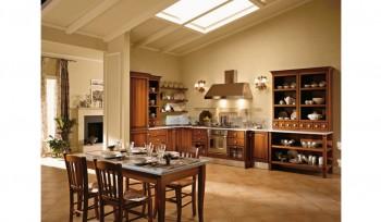 Cucina design classico con credenza a giorno