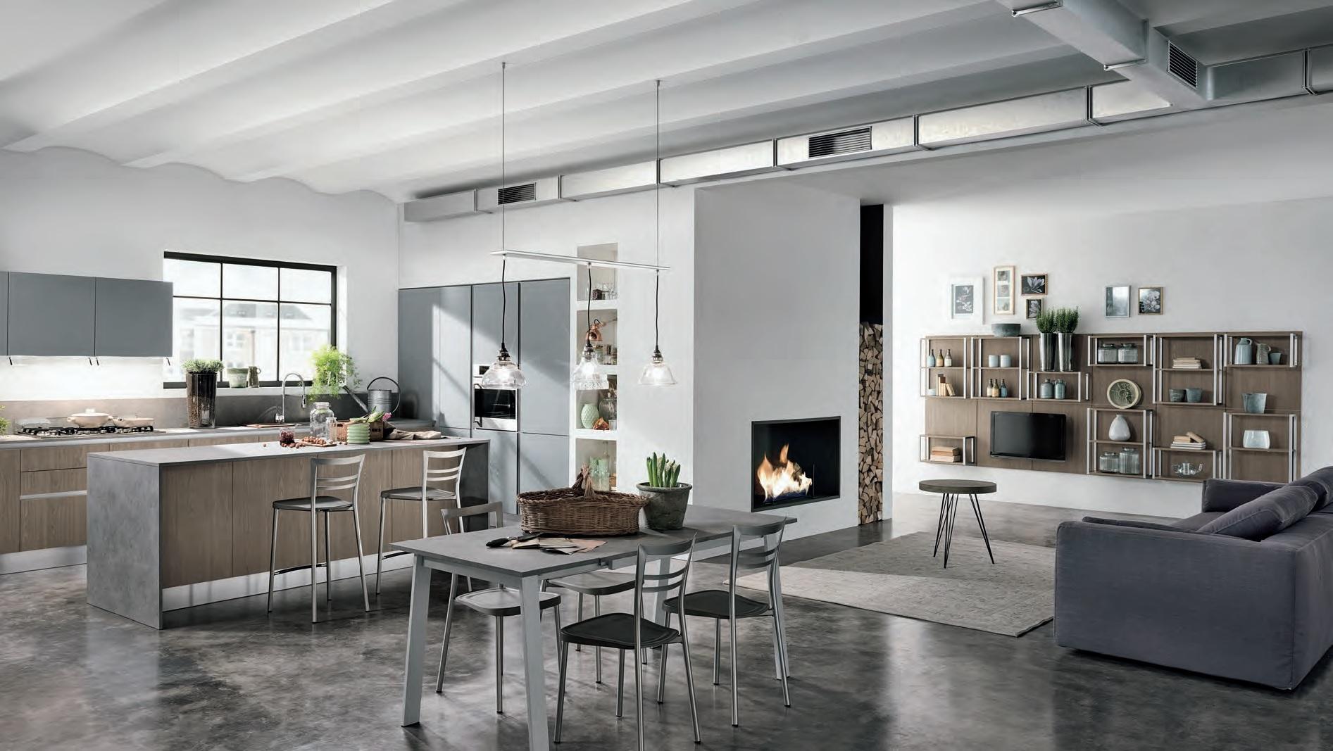 Cucina Open Space Moderna la cucina moderna - riganelli arredamenti
