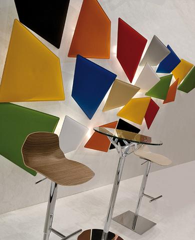 flap led pannelli acustici colorati con luce da parete - Riganelli Arredamenti