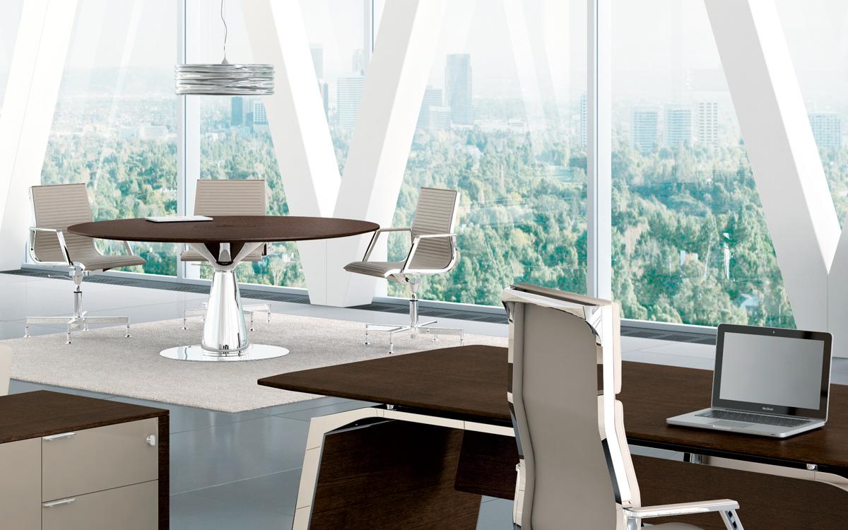 metar meeting tavolo riunioni piccolo rotondo - riganelli