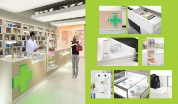 Bancone farmacia modulabile e personalizzato