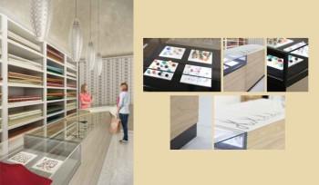 Bancone negozio merceria personalizzabile e modulabile
