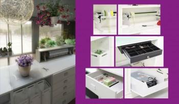 Bancone per negozio di fiori e fiorai personalizzabile e modulabile
