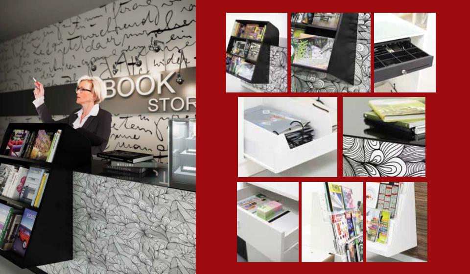 Bancone personalizzabile e modulabile libreria e cartoleria