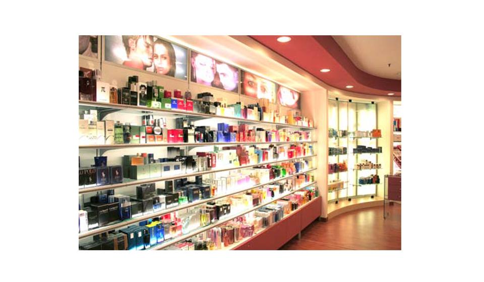 Espositore con illuminazione per prodotti parrucchieria e cosmetici personalizzato