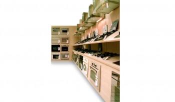 Espositore per negozi elettrodomestici cappe fornelli e forni