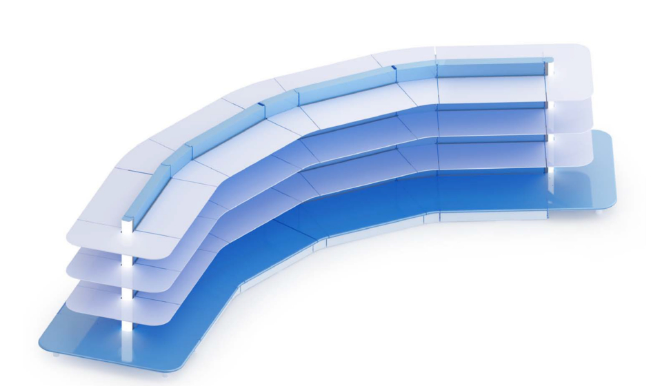 Gondola curva illuminata personalizzabile