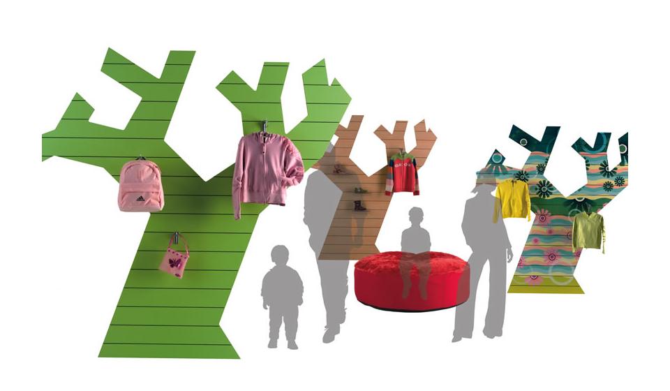 Pannelli dogati sagomati Thinline forma di albero