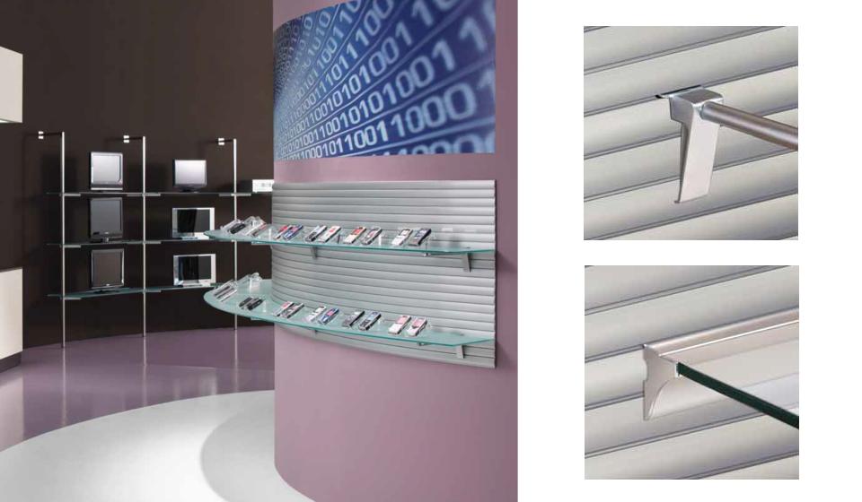 Alupanel pannello dogato in alluminio elettrificato negozio hi tech