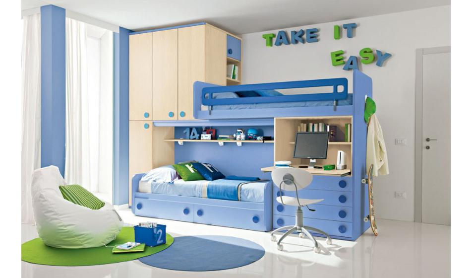 Gmc camerette letti singoli arredamento in legno html autos weblog - Camerette per stanze piccole ...