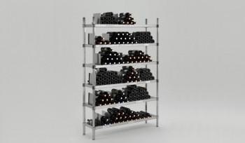 Scaffalatura in acciaio inox specifica per enoteca ed azienda vinicola