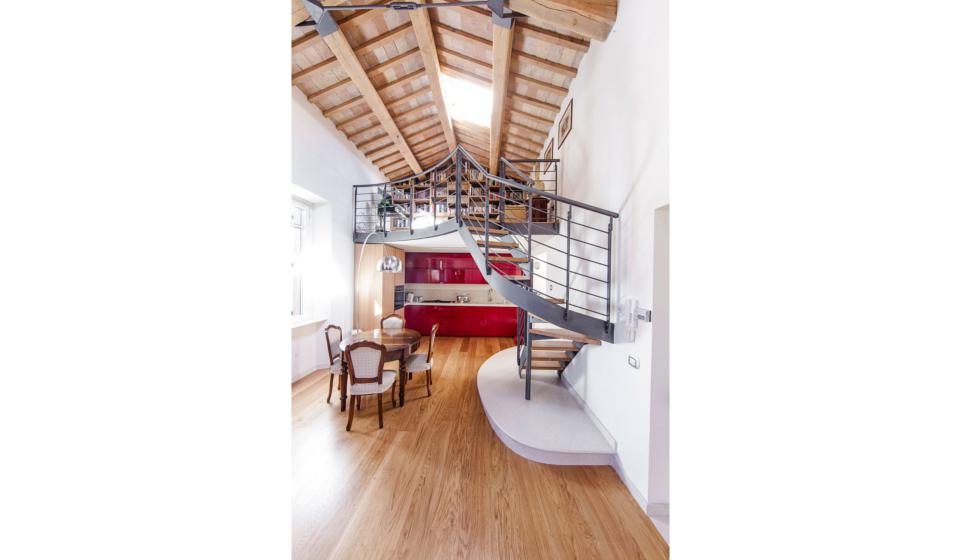 Soppalco per dividere ambienti in loft