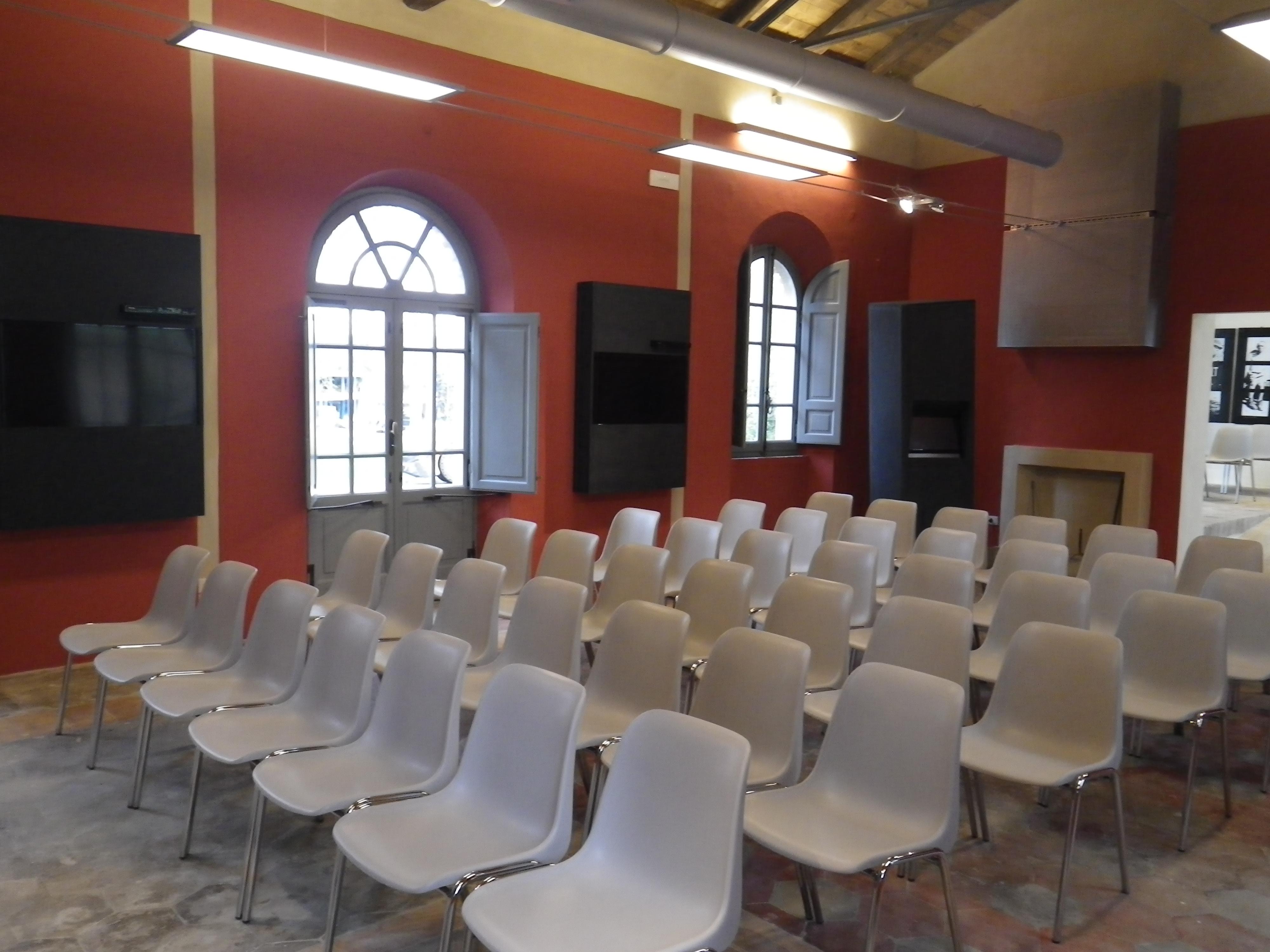 sala proiezione Casa della Memoria di Servigliano