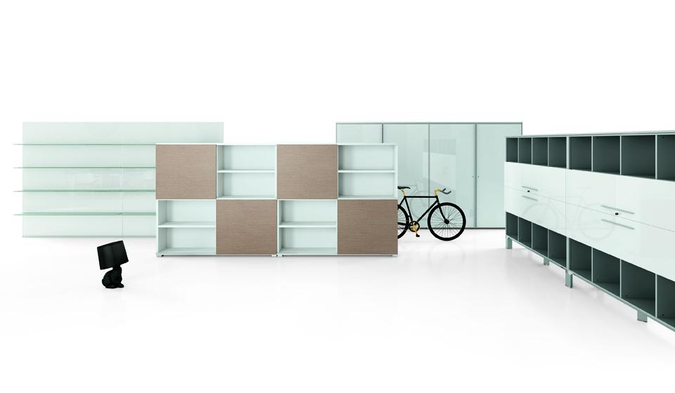 Armadi e mobili contenitori per ufficio modulari e personalizzabili riganelli - Mobili contenitori design ...