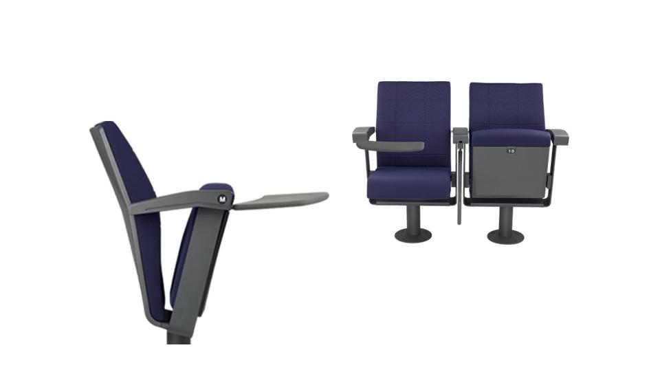 Sedia per auditorium e sala conferenze con tavoletta