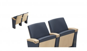 Sedia per sala conferenze rivestimento in pelle