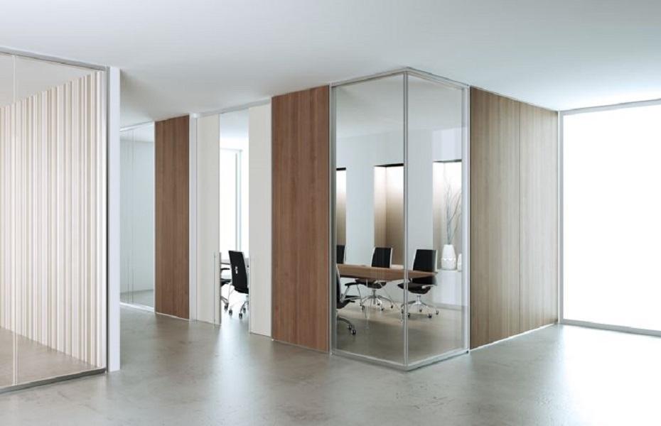 Allinone-parete-divisoria-in-vetro-e-legno-Riganelli-Arredamenti