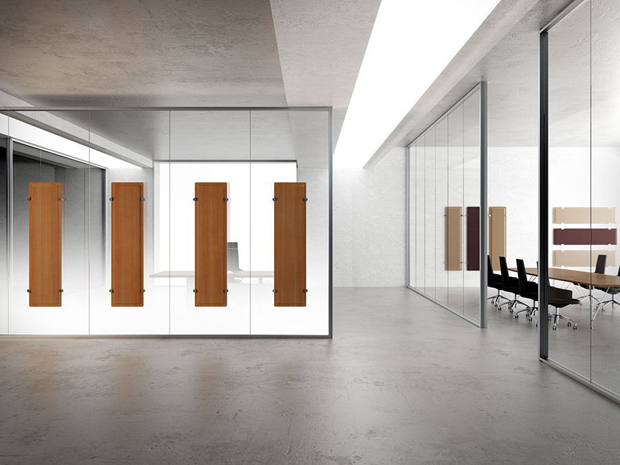Allinone-pareti-divisorie-in-vetro-con-dettagli-comfort-acustico-Riganelli-arredamenti