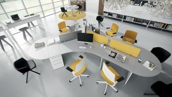 Multipostazione operativa sagomata e di design
