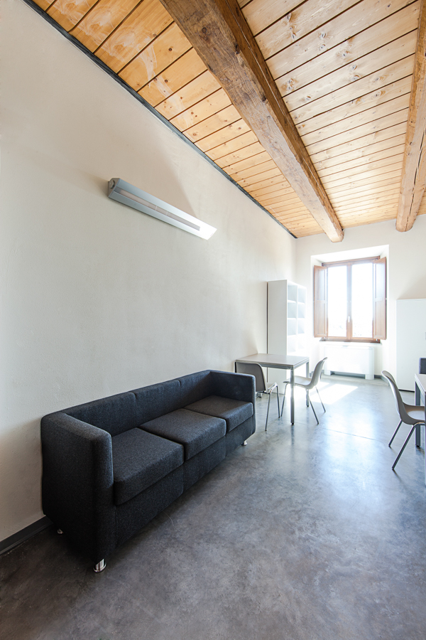 Area comune relax alloggi Università di Macerata