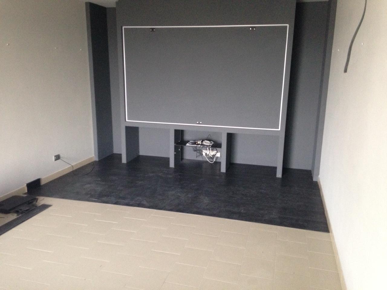 Pavimento galleggiante per sala home cinema