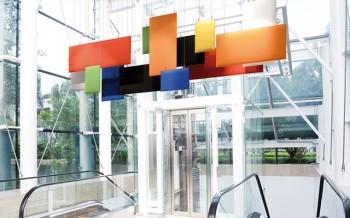BAFFLE Pannello fonoassorbente design in ufficio - Riganelli Arredamenti