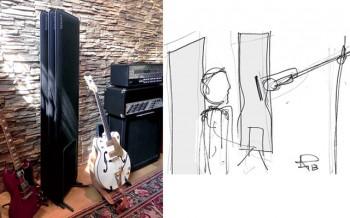 CORISTA Pannello acustico fonoassorbente registrazione audio - Riganelli Arredamenti